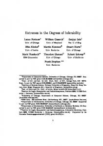 Extremes in the Degrees of Inferability - UMD Department of Computer ...