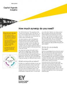 EY - How much synergy do you need? - Ernst & Young