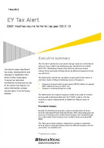 EY Tax Alert - Ernst & Young