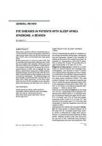 eye diseases in patients with sleep apnea syndrome - Ophthalmologia