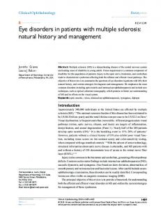 Eye disorders in patients with multiple sclerosis: natural ... - CiteSeerX