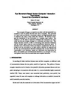 Eye Movement-Based Human-Computer Interaction Techniques ...