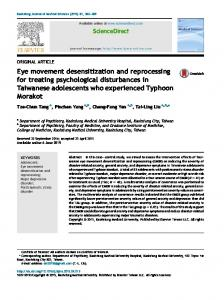 Eye movement desensitization and reprocessing for treating ...