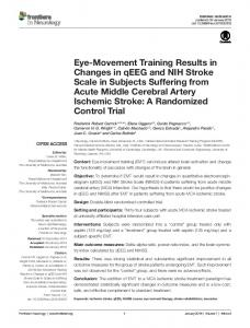 Eye-Movement Training Results in Changes in