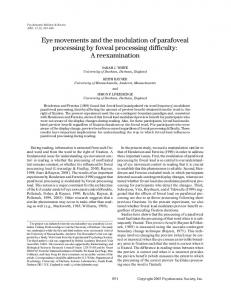 Eye movements and the modulation of parafoveal ... - Springer Link
