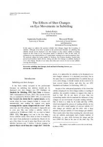 Eye Movements in Subtitling