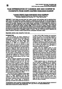 faas determination of cadmium and lead content in foodstuffs from ...