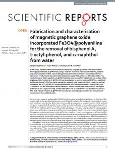 Fabrication and characterisation of magnetic graphene oxide