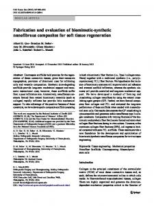 Fabrication and evaluation of biomimetic-synthetic ... - Springer Link