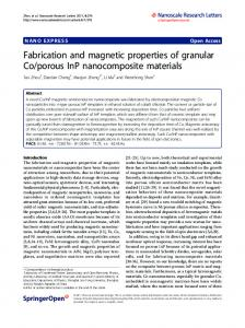 Fabrication and magnetic properties of granular