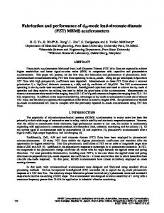 Fabrication and performance of d33-mode lead-zirconate-titanate ...