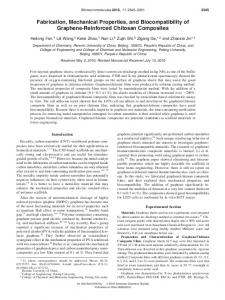 Fabrication, Mechanical Properties, and Biocompatibility of Graphene ...