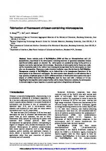 Fabrication of fluorescent chitosan-containing microcapsules