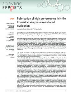 Fabrication of high performance thin-film transistors ... - BioMedSearch