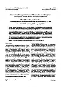 Fabrication of Honeycomb-Structured Porous Film from ... - Springer Link