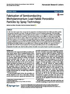 Fabrication of Semiconducting Methylammonium