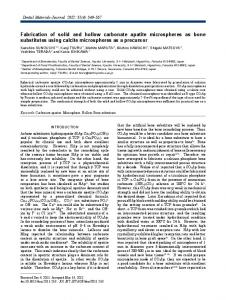 Fabrication of solid and hollow carbonate apatite microspheres as