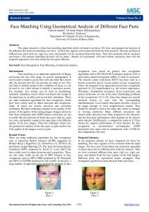 Face Matching Using Geometrical Analysis of Different Face Parts