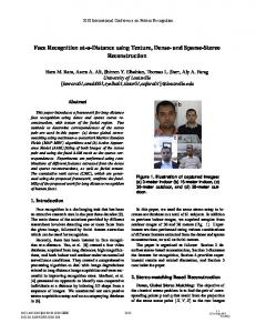 Face Recognition at-a-Distance Using Texture ... - Semantic Scholar