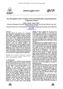 Face Recognition under Variation of Pose and ... - CiteSeerX