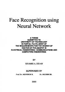 Face Recognition using Neural Network