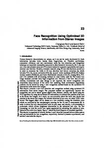 Face Recognition Using Optimized 3D Information ...