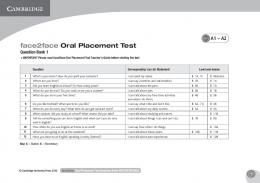 face2face Oral Placement Test