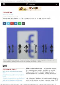 Facebook rolls out suicide prevention to users