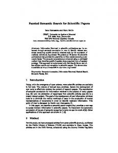 Faceted Semantic Search for Scientific Papers - 11th ESWC 2014