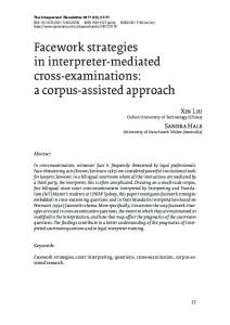 Facework strategies in interpreter-mediated cross-examinations: a
