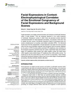 Facial Expressions in Context