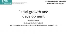 Facial growth and development
