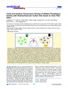 Facile and Sensitive Fluorescence Sensing of ... - ACS Publications