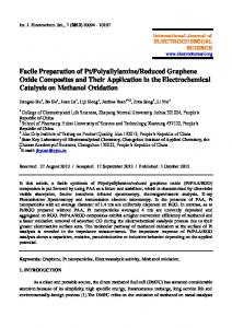 Facile Preparation of Pt/Polyallylamine/Reduced Graphene Oxide ...