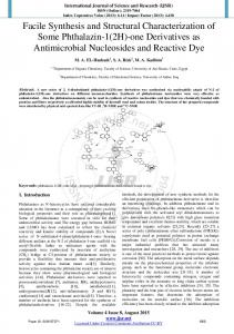 Facile Synthesis and Structural Characterization of ...