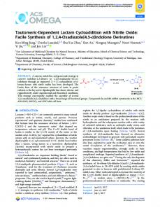 Facile Synthesis of 1,2,4-Oxadiazole[4,5-a ... - ACS Publications