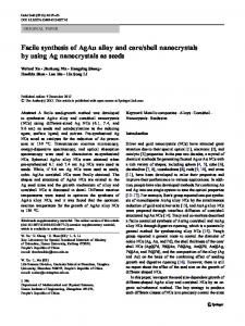 Facile synthesis of AgAu alloy and core/shell ... - Springer Link