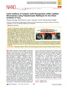 Facile Synthesis of Catalytic AuPd Nanoparticles