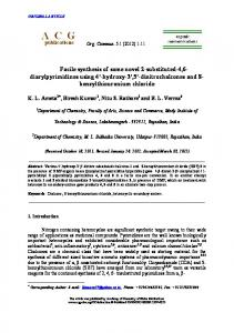 Facile synthesis of some novel 2-substituted-4,6 ... - Core