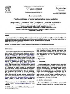 Facile synthesis of spherical cellulose nanoparticles - Tappi