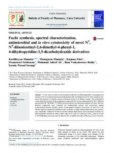 Facile synthesis, spectral characterization