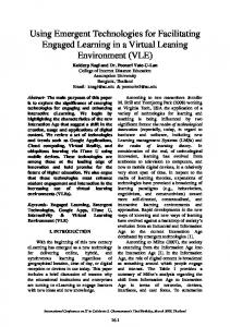 Facilitating Engaged Learning in a Virtual Leaning Environment (VLE ...