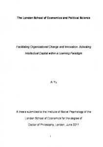 Facilitating organisational change and ... - LSE Theses Online