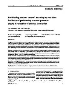 Facilitating student nurses' learning by real time ... - Sciedu Press