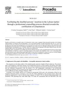 Facilitating the disabled persons' insertion in the ... - Science Direct