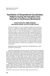 Facilitation of Nonpreferred Coordination Patterns During the ...