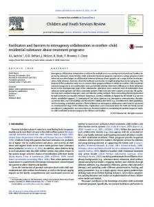Facilitators and barriers to interagency collaboration ...