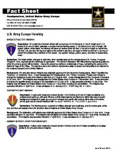 Fact Sheet - US Army in Europe