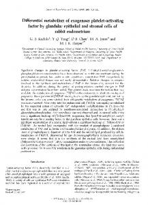 factor by glandular epithelial and stromal cells of rabbit ... - Reproduction