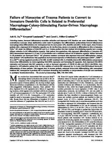 Factor-Driven Macrophage Differentiation Macrophage-Colony ...